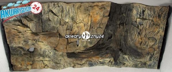 TŁO STRUKTURALNE 120x60 cm - Motyw mieszany, skała i korzeń.
