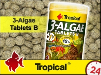 TROPICAL 3-Algae Tablets B - Tonące tabletki dla ryb dennych i skorupiaków