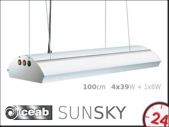 CEAB SunSky T5 4x39W+1x8W 100cm (SM4391000) | Belka oświetleniowa z oświetleniem nocnym do akwarium morskiego i słodkowodnego.