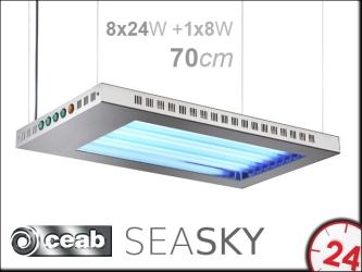 CEAB SeaSky T5 8x24W+1x8W 70cm (SSM700) | Belka oświetleniowa z oświetleniem nocnym do akwarium morskiego i słodkowodnego.