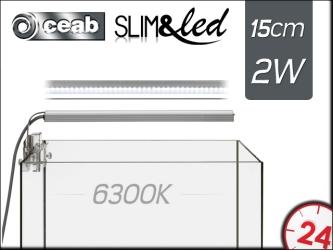 CEAB SLIM&led 6300K 2W 15cm (SLIM20D) | Oświetlenie Led do akwarium słodkowodnego.
