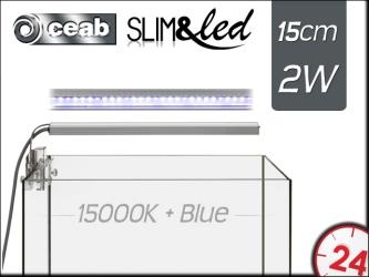 CEAB SLIM&led 15000K+Blue 2W 15cm (SLIM20M) - Oświetlenie Led do akwarium słodkowodnego.