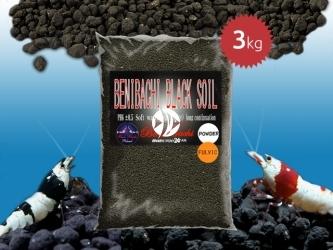 BENIBACHI Black Soil 3kg [Powder, Fulvic] | Japońskie podłoże dla wysokich klas krewetek