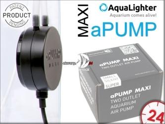 AQUALIGHTER aPUMP MAXI (7915) - Najcichsza, dwuwyjściowa pompka do akwarium do 200L