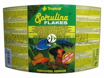 TROPICAL SPIRULINA FLAKES 4kg/21L - Roślinny pokarm płatkowany z dodatkiem glonów Spirulina platensis