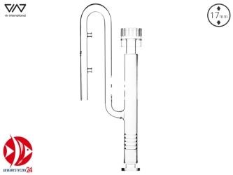 VIV Szklany wlot ze skimmerem 17mm [200-81] | Posiada regulację zasysania zanieczyszczeń góra/dół