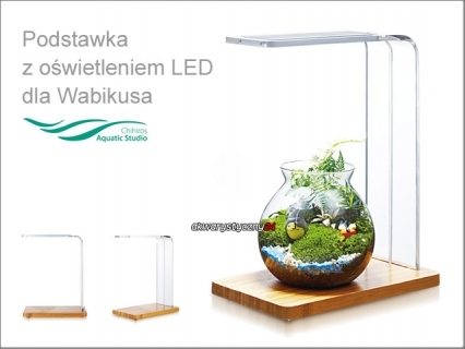 CHIHIROS Simple Woods LED (329-4001) - Podstawka z oświetleniem LED do WabiKusa