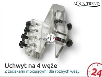 AQUA TREND Uchwyt na 4 węże (ATRS0011) - Uniwersalny dla weży do 6mm średnicy