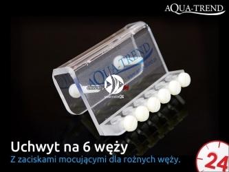 AQUA TREND Uchwyt na 6 węży (ATRS0012) - Uniwersalny dla weży do 6mm średnicy