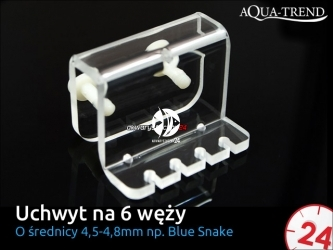 AQUA TREND Uchwyt na 4 węże dozujące Blue-Snake (AT0030)