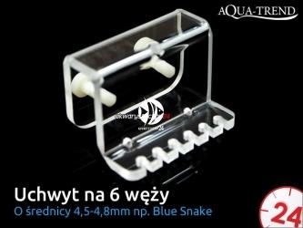 AQUA TREND Uchwyt na 6 węży dozujących Blue-Snake (AT0031)