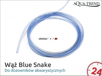 AQUA TREND Wąż silikonowy Blue-Snake 1m (AT0043) - Do dozowników akwarystycznych