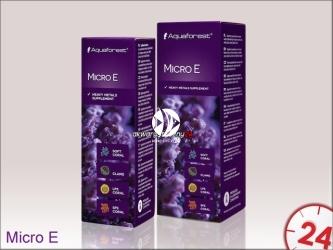 Aquaforest Micro E | Suplement zawiera skoncentrowane metale ciężkie takie jak: mangan, wanad, cynk, nikiel, żelazo, chrom, kobalt, miedź
