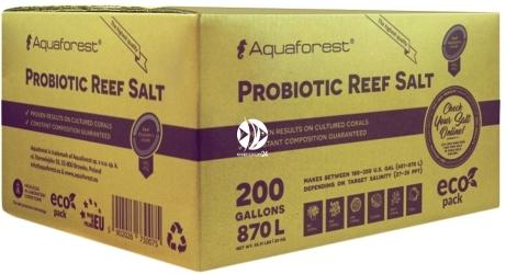 AQUAFOREST Probiotic Reef Salt - Syntetyczna sól morska stworzona z myślą o hodowli koralowców z dodatkiem bakterii probiotycznych.