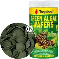 TROPICAL Green Alagae Wafers - Roślinne, tonące wafelki ze spiruliną dla glonojadów