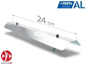 AQUAWILD Odbłyśnik symetryczny AL pasuje na świetlówki T5 (ALS240) - Pasuje na świetlówki T5, wykonany z aluminium.