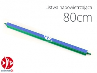 Aqua-Nova Listwa napowietrzająca 80cm | Do napowietrzania akwariów i oczek wodnych, dwa króćce na wejście powietrza
