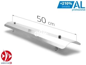 AQUAWILD Odbłyśnik symetryczny AL Professional pasuje na świetlówki T5 (ALPROS500) - Pasuje na świetlówki T5, wykonany z aluminium.
