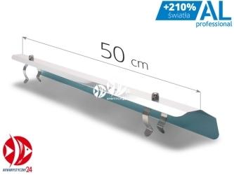 AQUAWILD Odbłyśnik asymetryczny AL Professional na świetlówki T5 (ALPROA500) - Pasuje na świetlówki T5 14W 24W, wykonany z aluminium.
