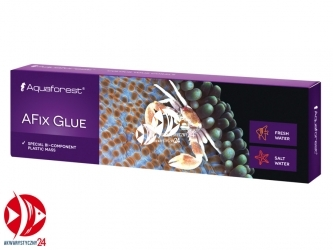 Aquaforest AFix Glue 110g | Plastyczna masa do łączenia małych kawałków skał oraz przytwierdzania koralowców twardych do skały