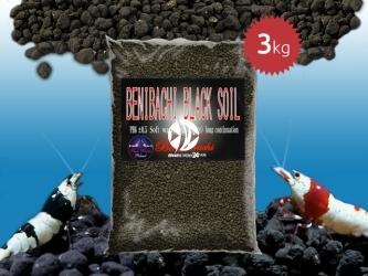 BENIBACHI Black Soil 3kg [Normal] | Japońskie podłoże dla wysokich klas krewetek