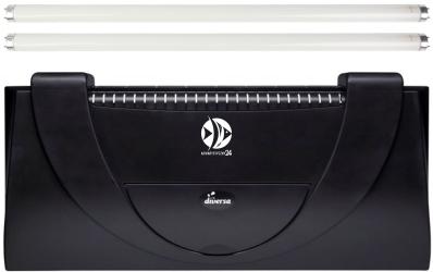 DIVERSA Pokrywa Aristo T8 80x35cm (2x18W) (117399) - Obudowa do akwarium z dwoma świetlówkami T8 z tworzywa sztucznego