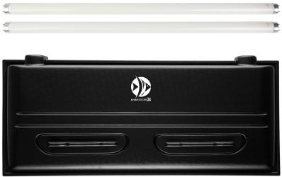 DIVERSA Pokrywa Selecto T8 100x50cm (2x30W) (118057) - Obudowa do akwarium z dwoma świetlówkami T8 z tworzywa sztucznego
