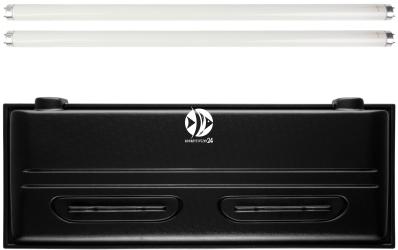 DIVERSA Pokrywa Selecto T8 120x50cm (2x30W) (118066) - Obudowa do akwarium z dwoma świetlówkami T8 z tworzywa sztucznego