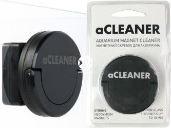 AQUALIGHTER aCleaner Czarny (8843) - Czyścik magnetyczny do akwarium