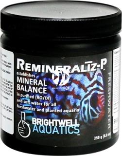 BRIGHTWELL AQUATICS Remineraliz-P (RMNP250) - Kompleks minerałów do wody miękkiej lud dejonizowanej do akwarium słodkowodnego.