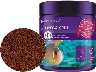 AQUAFOREST AF Omega Krill 120g - Pokarm dla ozdobnych morskich ryb mięsożernych