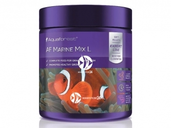 Aquaforest Marine Mix L 120g | Pokarm granulowany dla ozdobnych ryb mięsożernych, m.in. Amphiprion.