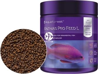 AQUAFOREST Anthias Pro Feed L 120g - Tonący pokarm granulowany dla morskich ryb ozdobnych, m.in. Anthiasów oraz innych morskich ryb mięsożernych
