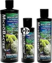 BRIGHTWELL AQUATICS MicroBacter7 (BAC125) - Kompletna formuła biokultur bakterii do ustanowienia filtracji biologicznej i natychmiastowej poprawy jakości