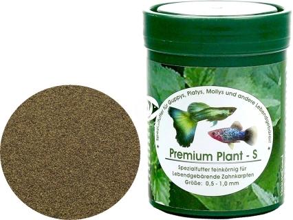 NATUREFOOD Premium Plant S (33110) - Pływający pokarm dla gupików, paletek, molinezji, mieczyków i innych ryb roślinożernych