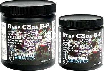 BRIGHTWELL AQUATICS Reef Code B-P (RCBP250) - Zbilansowana formuła w proszku zawierająca jony wapnia i stabilizator zasadowości do akwariów morskich