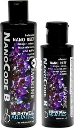 BRIGHTWELL AQUATICS NanoCode B (NCB125) - Zbilansowany suplement makroelementów, mikroelementów i pierwiastków śladowych wraz z buforem