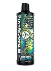BRIGHTWELL AQUATICS PhytoGreen-M (PNM125) - Zawiesina fitoplanktonu w rozmiarze 10-15 um dla miękkich koralowców, LPS, małży, gąbek, filtratorów.