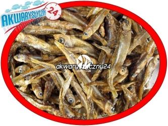 Stynka suszona 1kg | Naturalny pokarm dla dużych ryb mięsożernych, drapieżnych, piranii i żółwi.