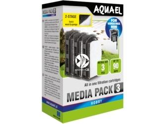 AQUAEL MEDIA PACK 3 (113273) | Gąbka do filtracji mechanicznej
