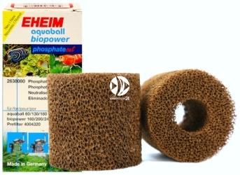 EHEIM aquaball biopower phosphateout (2638080) | Wkład gąbkowy, usuwający fosforany do filtra aquaball 60/130/180, biopower 160/200/240 i prefiltra 40