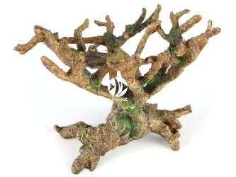 AQUA DELLA Bonsai Brown (234-423523) - Ręcznie malowany korzeń bonsai bez liści, pień z koroną do akwarium [wymiary - 22x19x20,5cm]