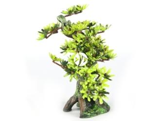 AQUA DELLA Bonsai medio sort b 6ST (234-420911) - Ręcznie malowane drzewo bonsai LIŚCIE do akwarium [wymiary - 15cm]