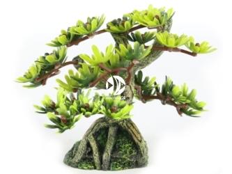 AQUA DELLA Bonsai mini sort c 6ST (234-420881) - Ręcznie malowany drzewo bonsai LIŚCIE do akwarium [wymiary - 9,5cm]