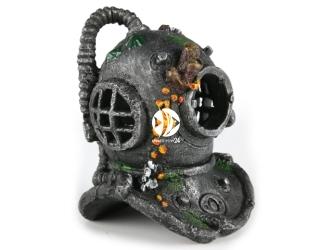 AQUA DELLA Diver helmet with airston M (234-105740) - Ręcznie malowany hełm nurka do akwarium [wymiary - 17cm]