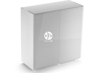 Aquael szafka Glossy ST 80 biała (121503) | Drzwi z laminowanego szkła SAFE TANK, 80x35x80cm