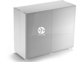 Aquael szafka Glossy ST 100 biała (121504) | Drzwi z laminowanego szkła SAFE TANK, 100x40x80cm
