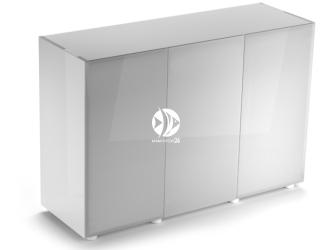 Aquael szafka Glossy ST 120 biała (121505) | Drzwi z laminowanego szkła SAFE TANK, 120x40x80cm