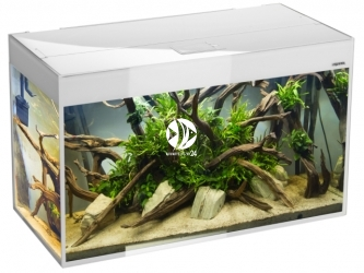 Aquael akwarium Glossy ST 150 biały (121502) | Zestaw akwariowy z oświetleniem LED, wzmocnione szkło SAFE TANK, 150x50x63cm