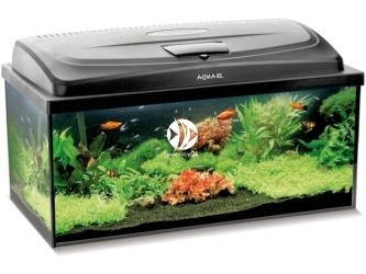 Aquael CLASSIC BOX SET 80 PROSTE (114811) | Zestaw akwariowy z oświetleniem LED, 80x35x40cm